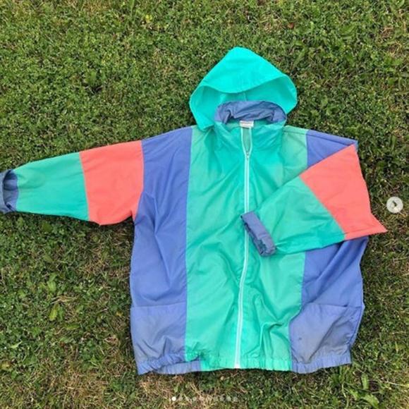 Strands Jackets & Blazers - 1992 VINTAGE Nylon Shell Jacket Retro Size XL